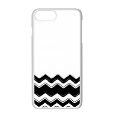 Chevrons Black Pattern Background Apple Iphone 7 Plus White Seamless Case