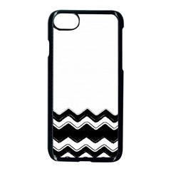 Chevrons Black Pattern Background Apple Iphone 7 Seamless Case (black)