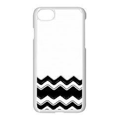 Chevrons Black Pattern Background Apple Iphone 7 Seamless Case (white)