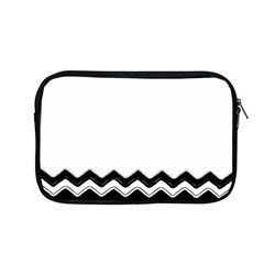 Chevrons Black Pattern Background Apple Macbook Pro 13  Zipper Case