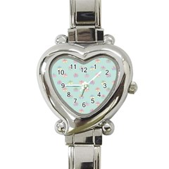 Butterfly Pastel Insect Green Heart Italian Charm Watch