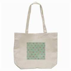 Butterfly Pastel Insect Green Tote Bag (Cream)
