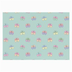 Butterfly Pastel Insect Green Large Glasses Cloth