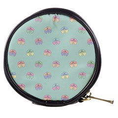Butterfly Pastel Insect Green Mini Makeup Bags