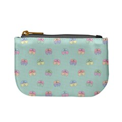 Butterfly Pastel Insect Green Mini Coin Purses