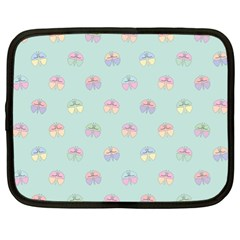 Butterfly Pastel Insect Green Netbook Case (XL)