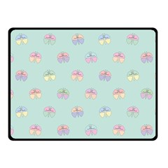 Butterfly Pastel Insect Green Fleece Blanket (Small)
