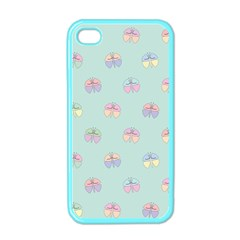 Butterfly Pastel Insect Green Apple iPhone 4 Case (Color)