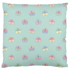 Butterfly Pastel Insect Green Large Cushion Case (Two Sides)