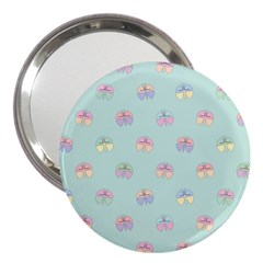 Butterfly Pastel Insect Green 3  Handbag Mirrors