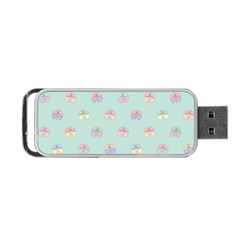 Butterfly Pastel Insect Green Portable USB Flash (Two Sides)