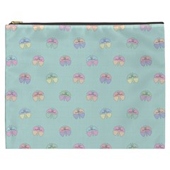 Butterfly Pastel Insect Green Cosmetic Bag (XXXL)