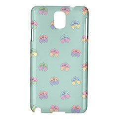 Butterfly Pastel Insect Green Samsung Galaxy Note 3 N9005 Hardshell Case