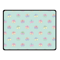 Butterfly Pastel Insect Green Double Sided Fleece Blanket (Small)