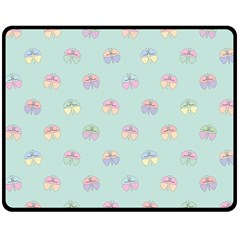 Butterfly Pastel Insect Green Double Sided Fleece Blanket (Medium)