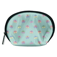 Butterfly Pastel Insect Green Accessory Pouches (Medium)