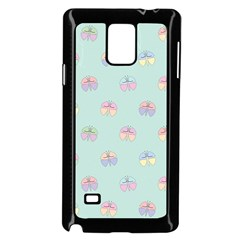 Butterfly Pastel Insect Green Samsung Galaxy Note 4 Case (Black)
