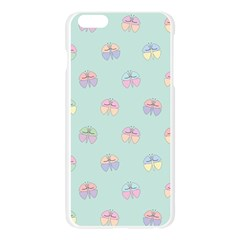 Butterfly Pastel Insect Green Apple Seamless iPhone 6 Plus/6S Plus Case (Transparent)