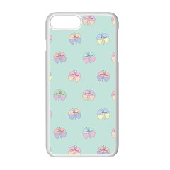 Butterfly Pastel Insect Green Apple Iphone 7 Plus White Seamless Case