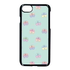 Butterfly Pastel Insect Green Apple Iphone 7 Seamless Case (black)