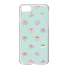 Butterfly Pastel Insect Green Apple Iphone 7 Seamless Case (white)