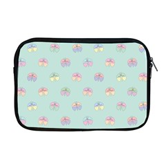 Butterfly Pastel Insect Green Apple Macbook Pro 17  Zipper Case