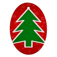 Christmas Tree Ornament (Oval)