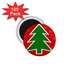 Christmas Tree 1.75  Magnets (100 pack)