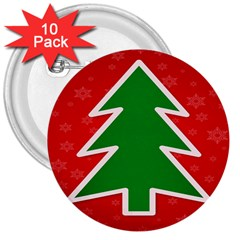 Christmas Tree 3  Buttons (10 pack)