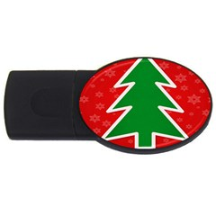 Christmas Tree USB Flash Drive Oval (1 GB)