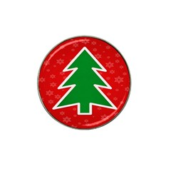 Christmas Tree Hat Clip Ball Marker (10 pack)