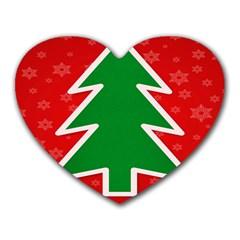 Christmas Tree Heart Mousepads