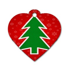 Christmas Tree Dog Tag Heart (Two Sides)