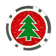 Christmas Tree Poker Chip Card Guard (10 pack)