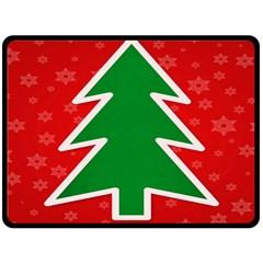 Christmas Tree Double Sided Fleece Blanket (Large)
