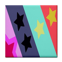 Cool Star Flag Tile Coasters