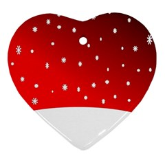 Christmas Background  Ornament (Heart)