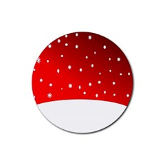 Christmas Background  Rubber Coaster (Round)
