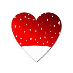 Christmas Background  Heart Magnet