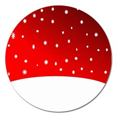 Christmas Background  Magnet 5  (Round)