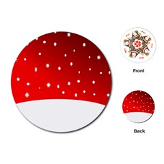 Christmas Background  Playing Cards (Round)