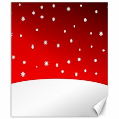 Christmas Background  Canvas 8  x 10