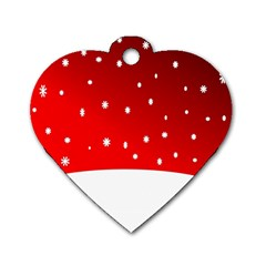 Christmas Background  Dog Tag Heart (Two Sides)