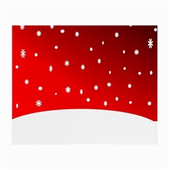 Christmas Background  Small Glasses Cloth (2-Side)