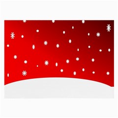 Christmas Background  Large Glasses Cloth