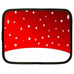 Christmas Background  Netbook Case (XXL)