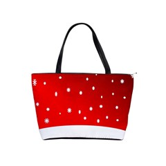Christmas Background  Shoulder Handbags