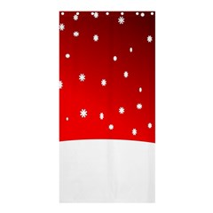 Christmas Background  Shower Curtain 36  x 72  (Stall)