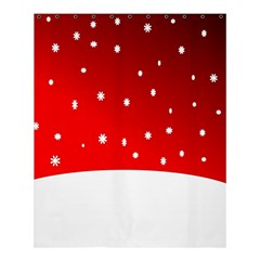 Christmas Background  Shower Curtain 60  x 72  (Medium)