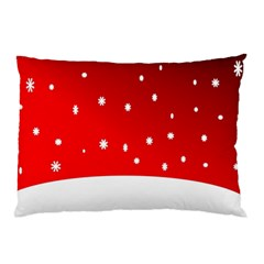 Christmas Background  Pillow Case (Two Sides)
